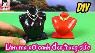 Cách làm ma nơ canh đeo trang sức cho búp bê / DIY Miniature Mannequin Jewelry Stand / Ami DIY