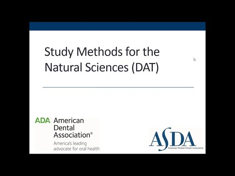 Study Methods for the Natural Sciences (DAT)