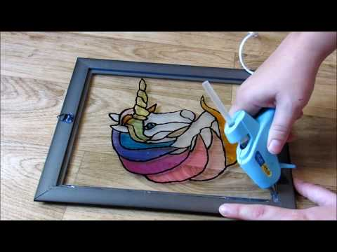 Unicorn Stained Glass