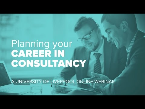 Planning your career in consultancy