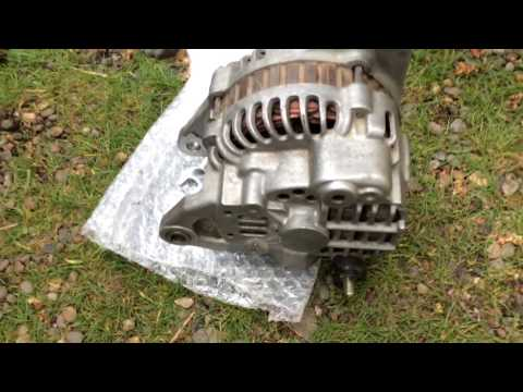 DIY How to Remove/Replace/Repair an Alternator! 00-05 Mitsubishi Eclipse RS 2.4L