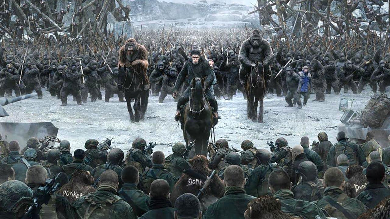 猩猩成为地球的新主人-人类却感染病毒-退化成了野兽-速看科幻电影-猩球崛起3-终极之战
