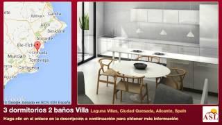 3 dormitorios 2 baños Villa se Vende en Laguna Villas, Ciudad Quesada, Alicante, Spain