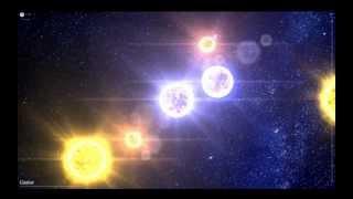 HD - SIX STARS IN ONE - Castor Gemini: 100,000 Stars