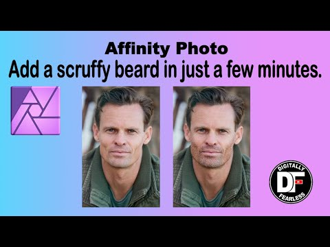 Scruffy beard in minutes Affinity Photo Tutorial thumbnail