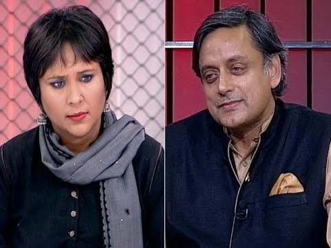 Barkha Dutt gets roasted while conducting debate with shashi tharoor Swapan Dasgupta and suhel seth