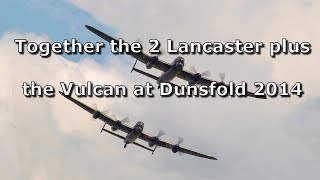 Vulcan, BBF and Canadian Lancasters at Dunsfold Wings and Wheels 2014