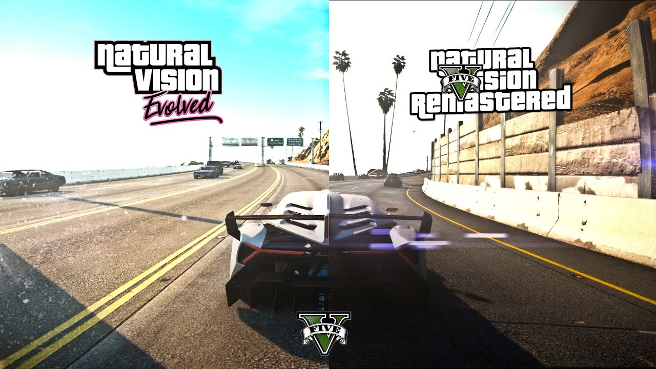 GTA V | 2020 NaturalVision Evolved VS NaturalVision Remastered ...