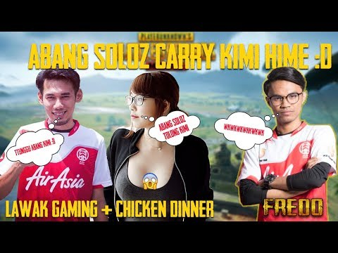 Abang Soloz Carry Kimi Hime!! Funny Moments - Gameplay by Fredo Sameon | PUBG Mobile Malaysia