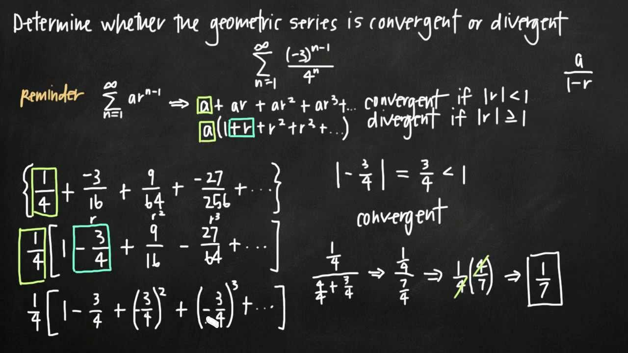 Convergence of a geometric series (KristaKingMath)