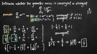Convergence of a geometric series
