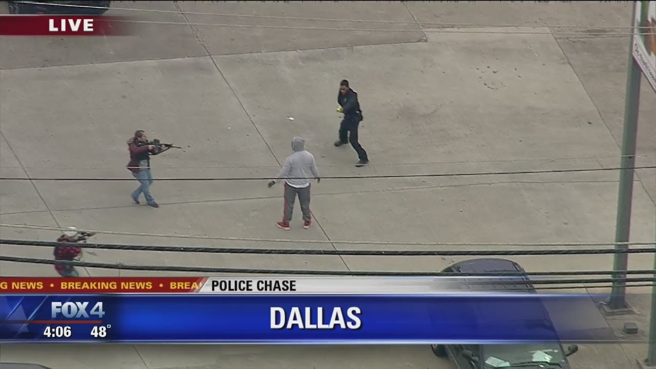 Police Chase: suspect thinks he's gotten away, gets surprised by police