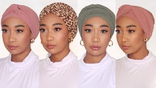 4 Easy Turban / Headwrap Tutorial (NO PINS) | Shes Mishka | South African Youtuber