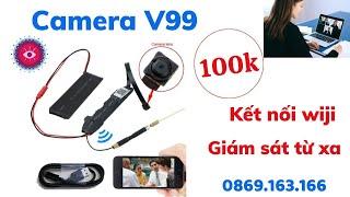 Camera ngụy trang mini V99 siêu nhỏ - Kết nối wifi giám sát từ xa Full HD