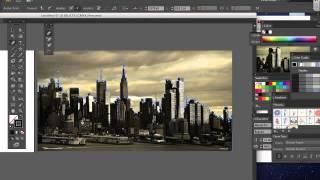 New York City Silhouette in Adobe Illustrator CS6