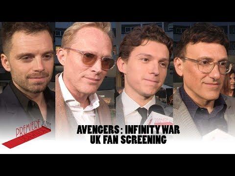 Avengers: Infinity War – interviews Tom Holland, Sebastian Stan, Paul Bettany, Anthony Russo