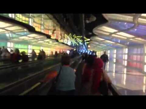 United Airlines O'Hare Light Tunnel On My Birthday