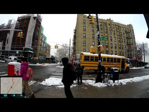 ⁴ᴷ Walking to work in NYC the day after 2018 Nor'easter Storm Toby from Astoria to Long Island City