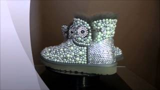 Crystal Bailey Button Uggs + Information on how to bling like a pro!