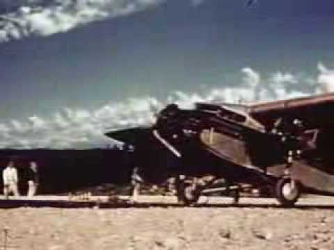Ford Tri Motor Airplane Prepares To Take Off (1956) ♦ Historic Stock Footage