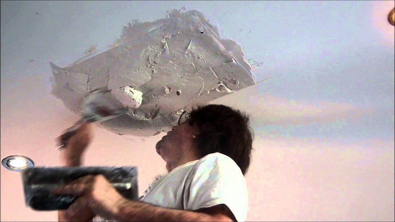 Large Hole In Plasterboard Ceiling Repair ~ Hawthorn Plaster Repairs