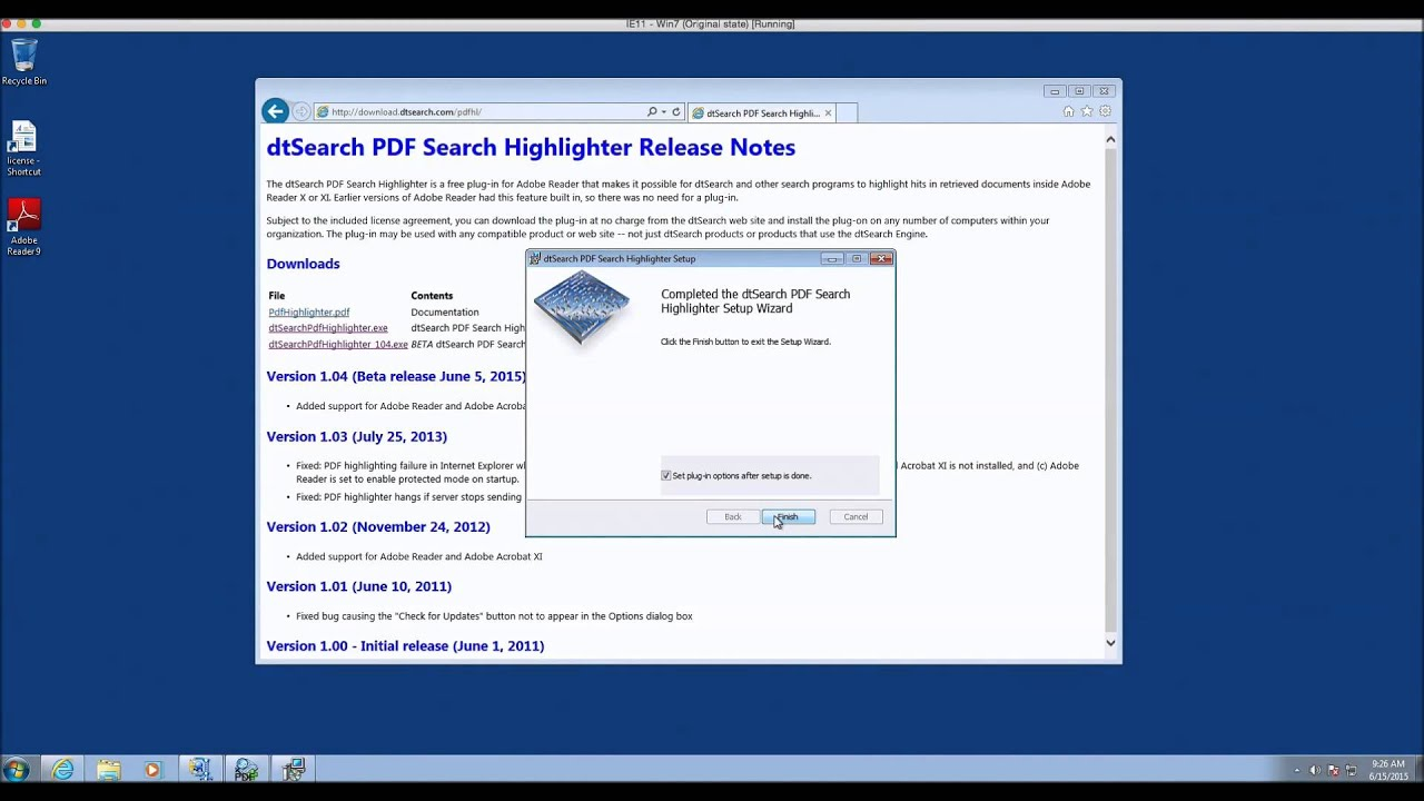 Install and setup dtSearch hit highlighting plugin