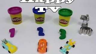 PlayDoh and Number Cookie Mold with Egg Car Toy
