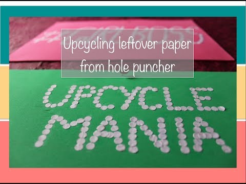 Waste paper art - Upcycle waste paper from a hole puncher to create art patterns