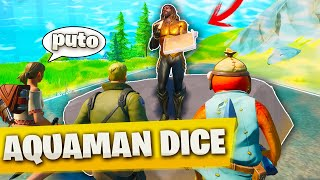 AQUAMAN DICE! en FORTNITE 🤣 *con suscriptores*