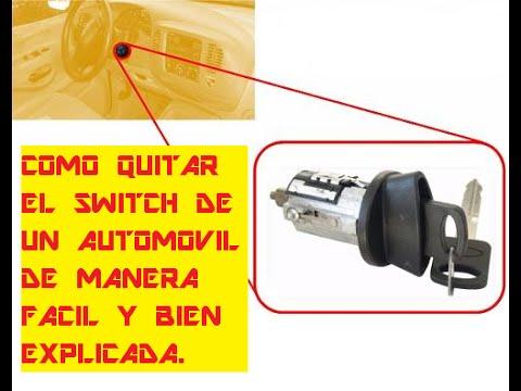 Como quitar el switch de un automovil de manera facil y for Como quitar las llaves dela regadera