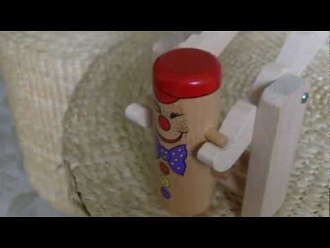 Gravity Toys, Clown Tumble Toy, A Traditional Wooden Toy.