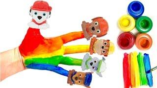 Best Learning Colors Video for Children - Paw Patrol Family Finger Nursery Preschool Rhyme Song