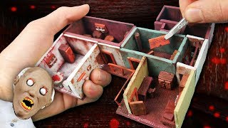 Making GRANNY\'S First Floor Miniature House in POLYMER CLAY!