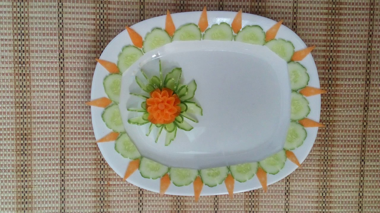 Vegetable plate decoration 19 2 vietnam food channel for Art of food decoration