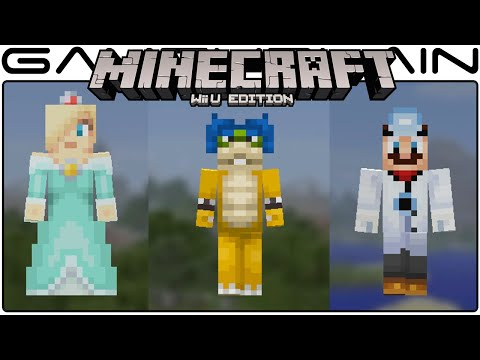 All 40 Mario Skins in Minecraft Wii U Edition (Koopalings, Rosalina, Daisy, Toadette, etc)