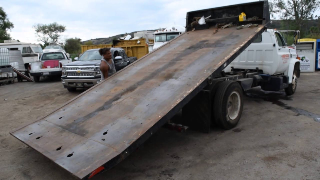 1978 Chevy Flat Bed Tow Truck line ly Auction 10 30 15