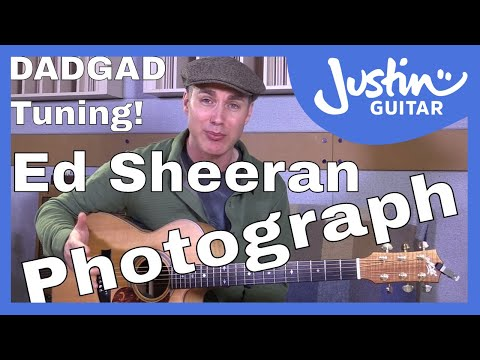 How to play Photograph by Ed Sheeran on guitar in DADGAD tuning - Guitar Lesson Tutorial