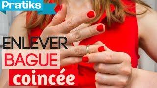 Comment enlever une bague ou alliance coincée sur un doigt