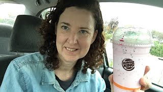 Burger King Oreo Cookie Peppermint Shake Live Review!!