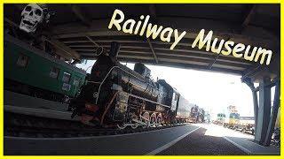 Exploring Old Steam Train EP 773-59 2018. Old Soviet Steam Locomotive. Kyiv Railway Museum 2018