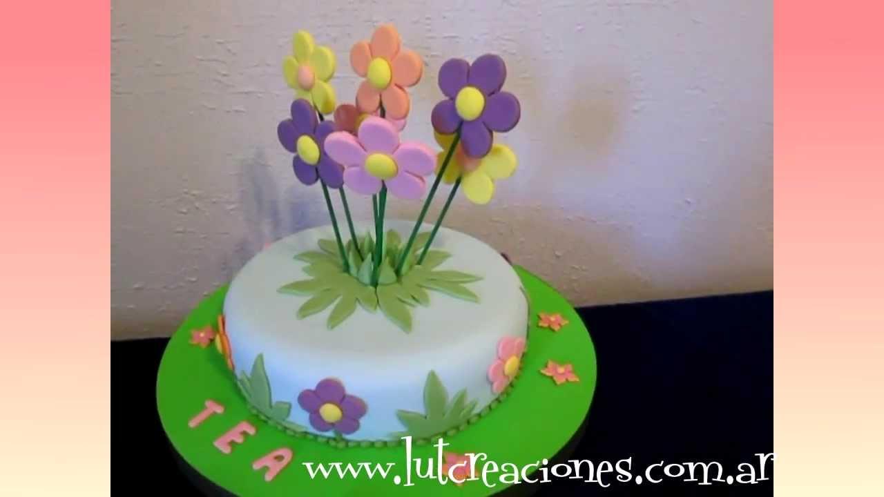 Torta Decorada Flores De Colores Lut Creaciones Tortas Decoradas