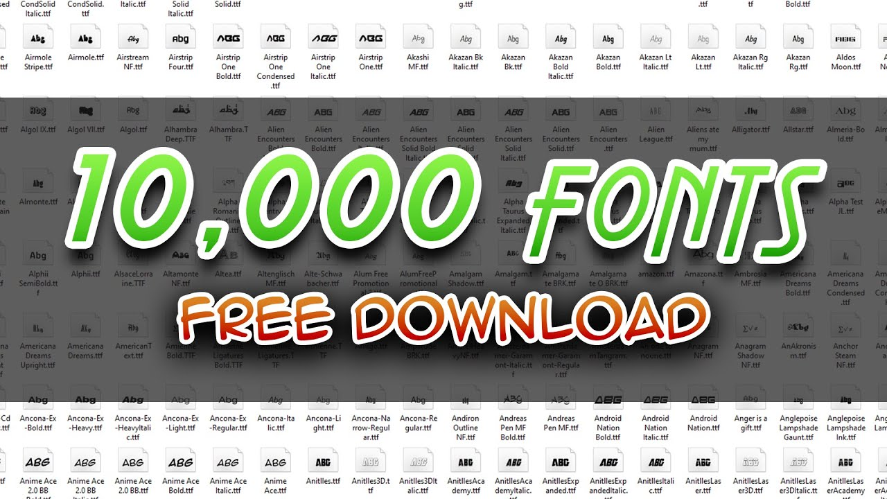 Download 10,000 Fonts Pack | Free Download - YouTube