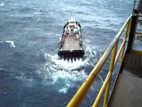 Crew Boat Stuck Offshore in Bad Weather