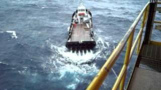 Crew Boat Stuck Offshore in Bad Weather