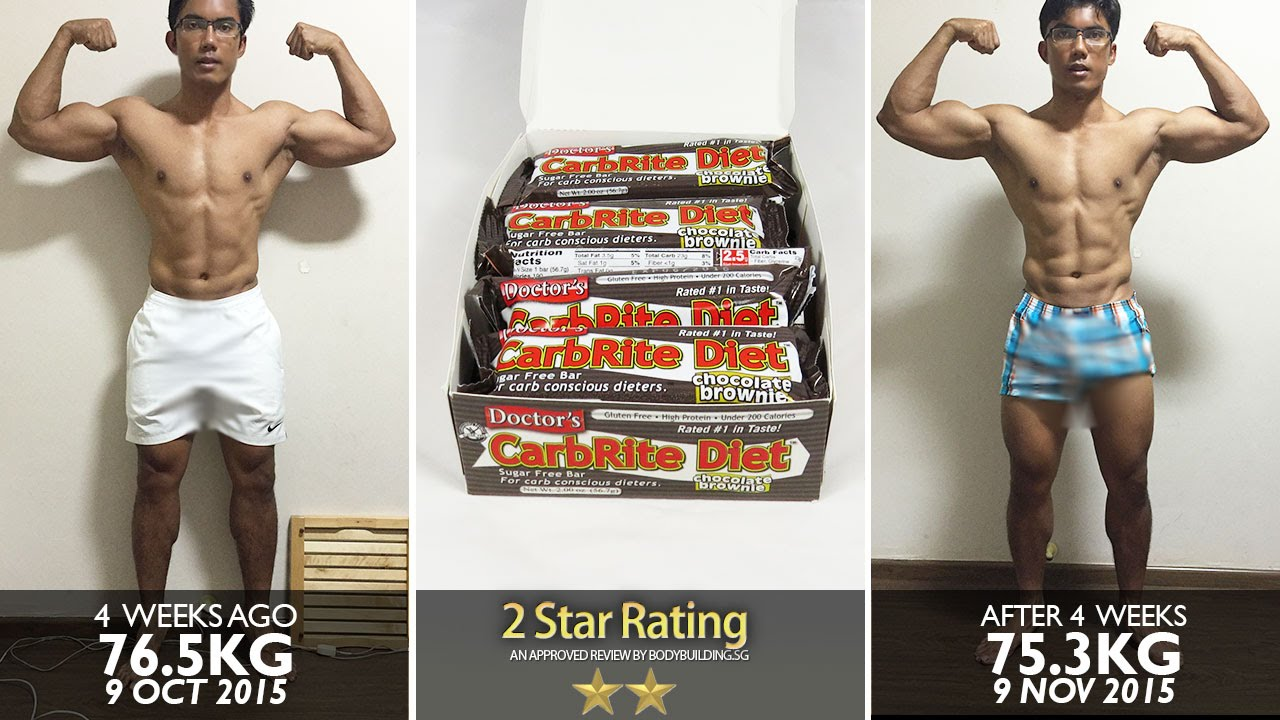 Universal Nutrition, Doctor's CarbRite Diet Bars, Sugar ...