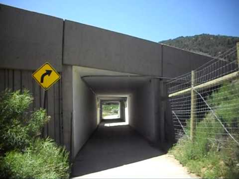 Entering the bike path through Glenwood Canyon, Colorado