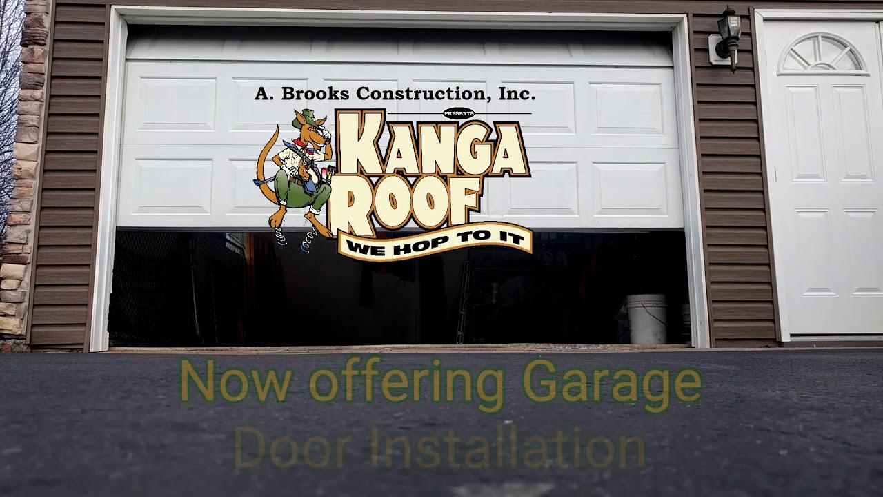 A Brooks Kanga Roof Presents Garage Door Installation