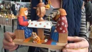 Богородские игрушки из дерева. Богородская резьба. Bogorodskaya toy