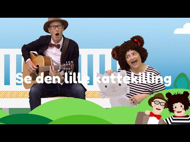 Se Den Lille Kattekilling | Børnesang med fagter | Popsi og Guitar-Krelle