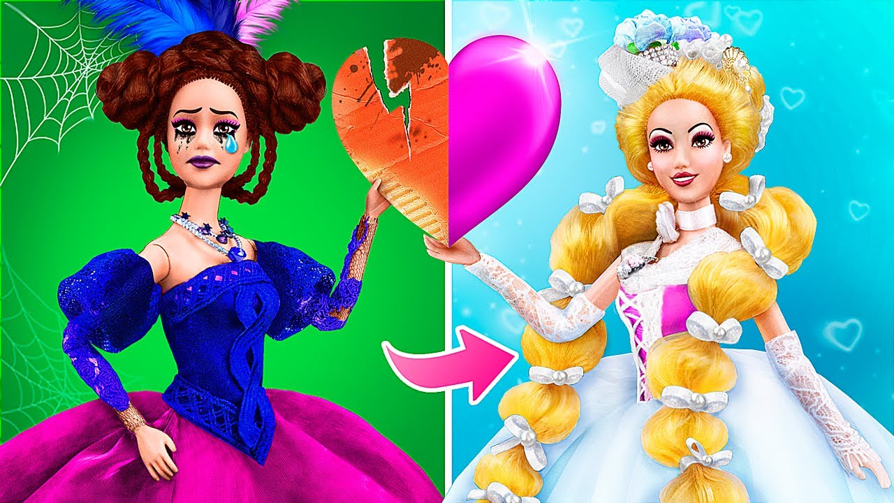 From Evil to Good / 12 Barbie Doll Hacks and Crafts